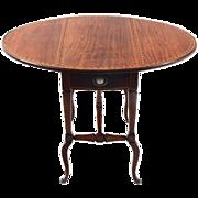 American Inlaid Mahogany Drop Leaf Table
