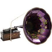 SOLD Edison Home Phonograph with Morning Glory Horn