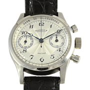 Swiss Stainless Steel Chronograph Retailed by Marcus & Co