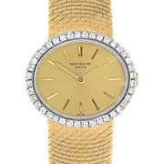 Swiss Ladies Wrist Watch in 18 Karat Yellow Gold Case and Band by Patek Philippe