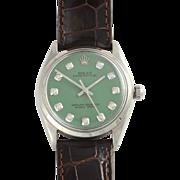 Swiss Mens Stainless Steel Wrist Watch by Rolex