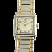 Rare All Original Swiss Mens 18K Gold Wrist Watch by Patek Philippe Circa 1927