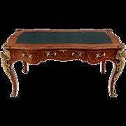 Louis XV Style Kingwood and Walnut Desk