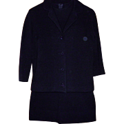 Vintage 1950' 1960's Wool & Mohair 3 Piece Suit By Glasgo Knitwear Size XS Small