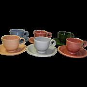 Set Of 6 Fiesta Cups & Saucers