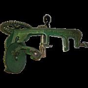 Antique 1898 Cast Iron Turntable Apple Peeler