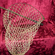 REDUCED Vintage Collapsible Metal Fishing Net
