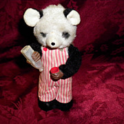 REDUCED Vintage Tin / Plush Wind Up Bear