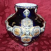 REDUCED French Majolica Choisy Le - Roi Vase