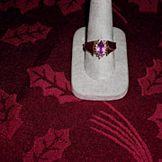 REDUCED 14 kt. Yellow gold Amethyst And Diamond Ring Size 10 With Appraisal