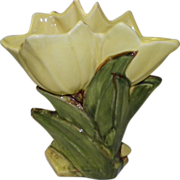 Double Yellow Tulip McCoy Vase