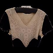 REDUCED Antique Black Velvet Dress