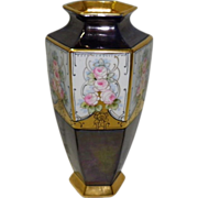 Rankin Vase With 22KT Gold Trim Dated 1921