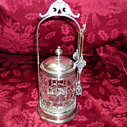 REDUCED Antique Victorian Style Silver Plated Pickle Castor