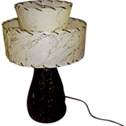 REDUCED Retro Table Lamb With Double Tier Fiberglass Shade