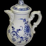 REDUCED Meissen Blue On White Tea Pot