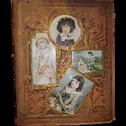 REDUCED Large Antique / Victorian Scrapbook