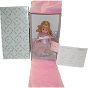 """Madame Alexander Silver Sparkle Ballerina 8"""" Doll Never  Removed From Box #35070"""
