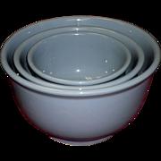 Set Of 3 McKee Blue Nesting Mixing Bowl