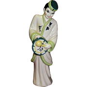 "Ceramic Art Studio Figurines ""Asian Musicians Lu-Tang & Wing Sang"""