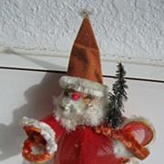 Vintage SANTA ornament Furry beard