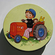 REDUCED Vintage Mabel Lucy Attwell Tin Litho biscuit tin