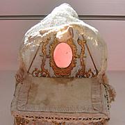 REDUCED Gerhard Sohlke antique doll house miniature Dressing gilt metal table swivel mirror