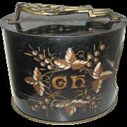 REDUCED Antique tin litho shoe shine box