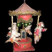 Antique Mechanical Carousel with Rare Animal Figures for Au Paradis des Enfants