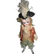 Antique French all bisque boy mignonette great French costume