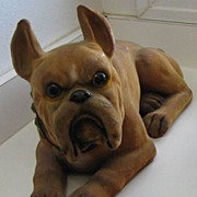 REDUCED Antique Boxer Nodder figural large dog
