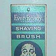 Antique Ever-Ready shaving brush advertising calendar c1933