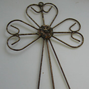 REDUCED Vintage decorative metal shabby wall art cross