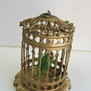 Antique German Miniature Doll House Erhard & Söhne ormolu large scale bird cage