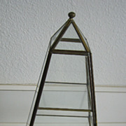 Vintage Collectible Pyramid Display Case with locking front door