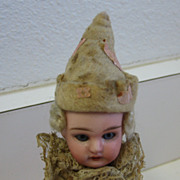 Antique doll bisque head Christmas ornament