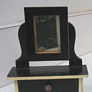 Kestner antique miniature doll house furniture German mirrored dresser