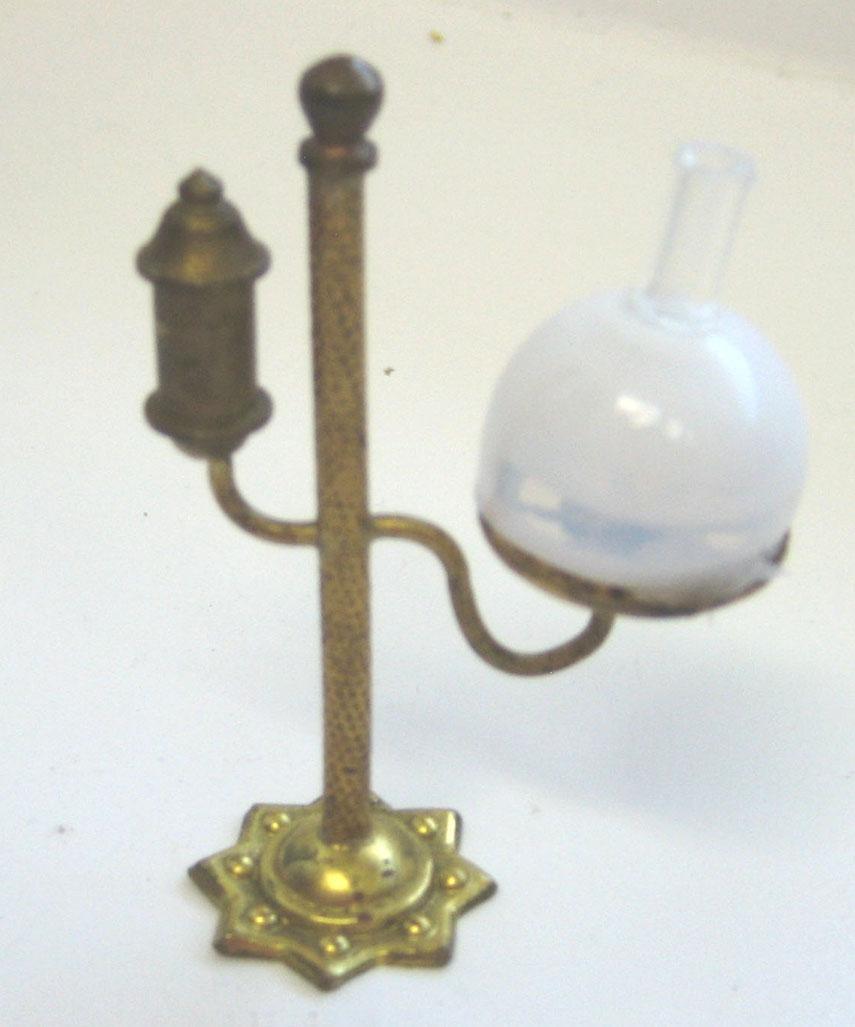 Antique German miniature dollhouse Ormolu unusual Lamp from ...