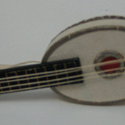 Antique German Christmas candy container Mandolin
