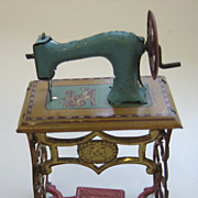 Antique doll house miniature German Penny toy Sewing machine