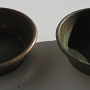 Antique dollhouse miniature brass scale pans