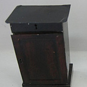 Antique German doll house miniature Rock & Graner end table