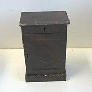 Antique German doll house miniature Rock & Graner small end table