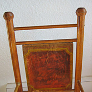 Antique doll furniture paper litho Bliss early rocking chair