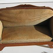 German Antique doll house miniature stenciled sofa
