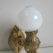 Antique German Miniature Doll House Gilt wall lamp small