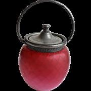 Victorian diamond quilted cookie or bisquet jar