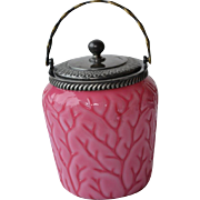 Wilhelm Kralik , Bohemia Victorian art glass covered cookie jar