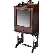 Rococo rosewood Victorian music cabinet