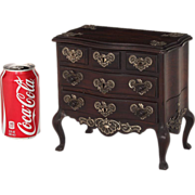 SALE Miniature rosewood jewelry chest